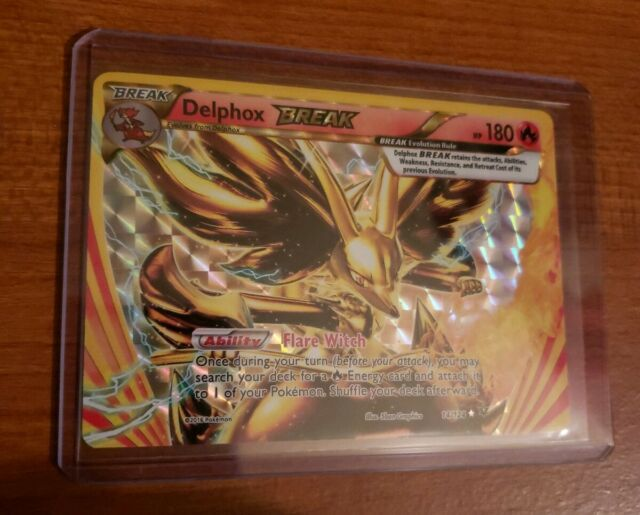POKEMON TCG: XY FATES COLLIDE DELPHOX BREAK 14/124 RARE BREAK MINT