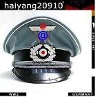 WW2 WWII GERMAN WH M36 HATS OFFICER WOOLEN CAP WITH CAP INSIGNIA DE/301206