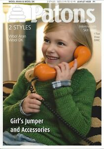 Vat Free Knitting Pattern Only Patons Childrens Childs Jumper Hat