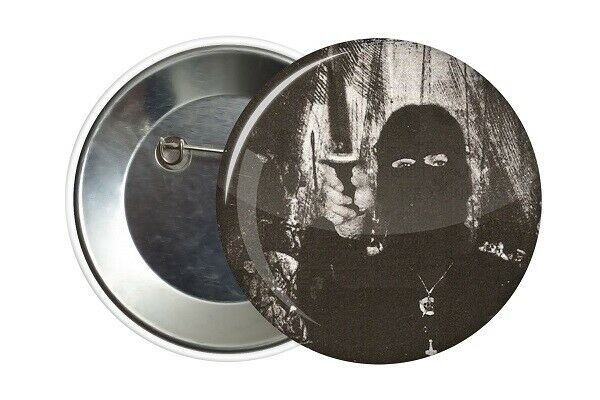 Badge Pin Button 38 mm Black Metal A.M.I. Productions
