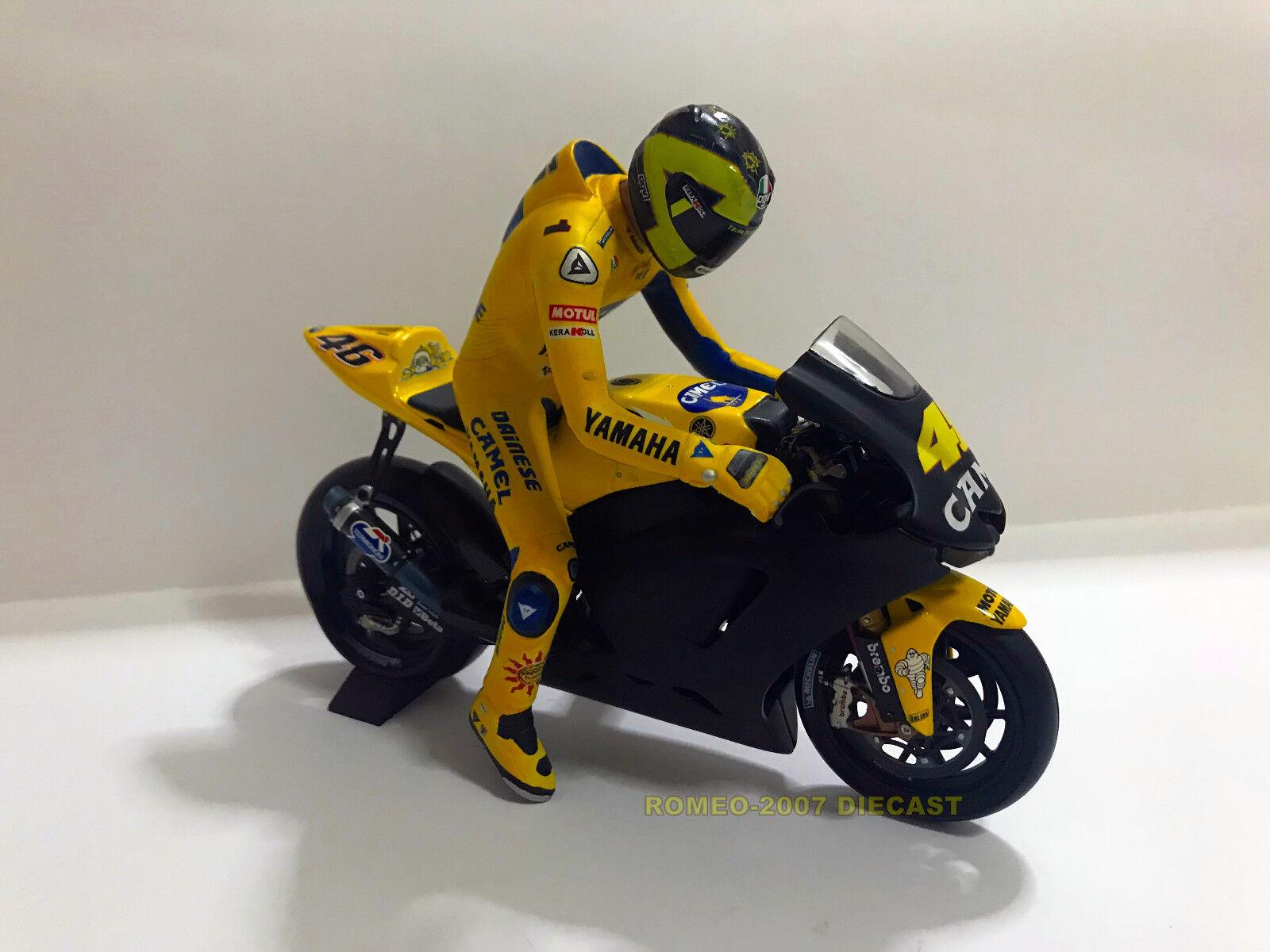 1 12 Conversión Minichamps Bike + Figure Figurine Valentino Rossi Test 2006