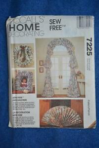 7225-McCALL-039-S-Sew-Free-PATTERN-Home-Decorating-WREATHS-CURTAINS-NEW