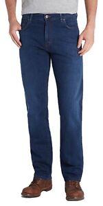 WRANGLER-Texas-Stretch-Jeans-Da-Uomo-Regular-Morbido-Denim-da-Uomo-Classic-Blues