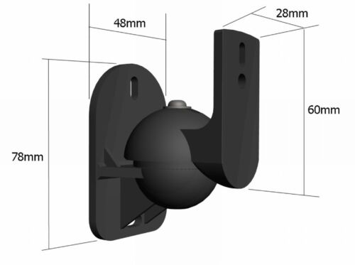 4 Speaker brackets  Universal  Surround sound