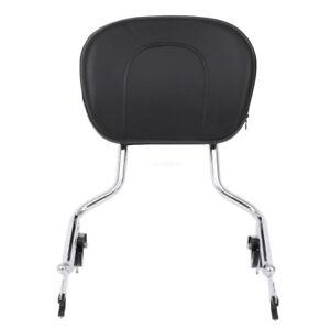 Detachable-Backrest-Sissy-Bar-amp-Pad-For-Harley-Touring-FLHR-FLHX-FLHT-FLTR-09-up