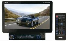 "NEW Pyle PLDNV105B 10.1"" 1-DIN Motorized GPS DVD/CD Bluetooth Receiver Monitor"