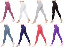 Womens Cotton Leggings Ladies Full Length UK Size 6-28