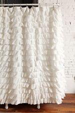 Ruffle Fabric Shower Curtain  Waterfall