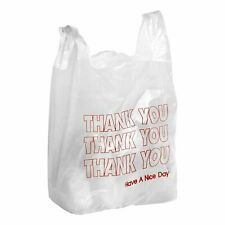 T Shirt Thank You Plastic Grocery Store Shopping Carry Out Bag 100ct 115x65x21