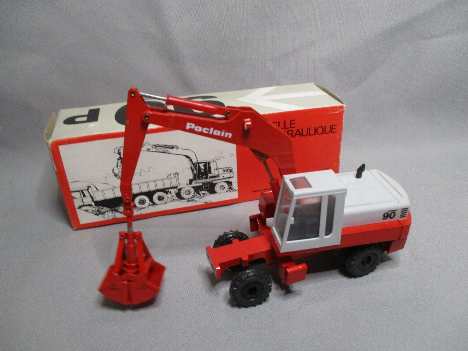 Ak305 gescha 1 50 poclain hydraulic excavator 90p ref 896 good condition