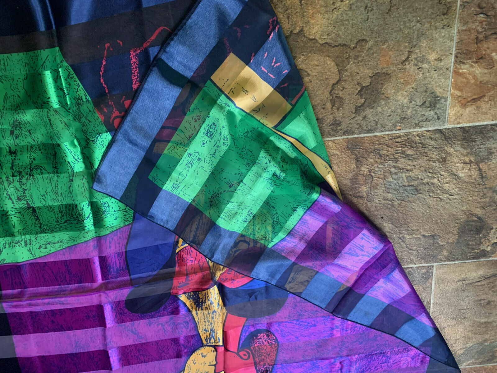 Picasso Silk feel Scarf Art Picture Scarf Wall Ha… - image 3