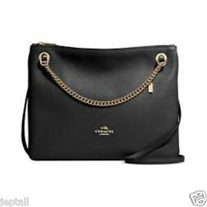 Coach F52901 Black Pebbled Leather Convertible Crossboby Bag Jeptall CrazyBoss