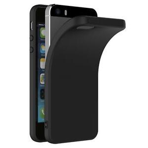 Ultra-Slim-Case-iPhone-5-5S-SE-Handy-Huelle-Schutzhuelle-Silikon-Schwarz-Tasche
