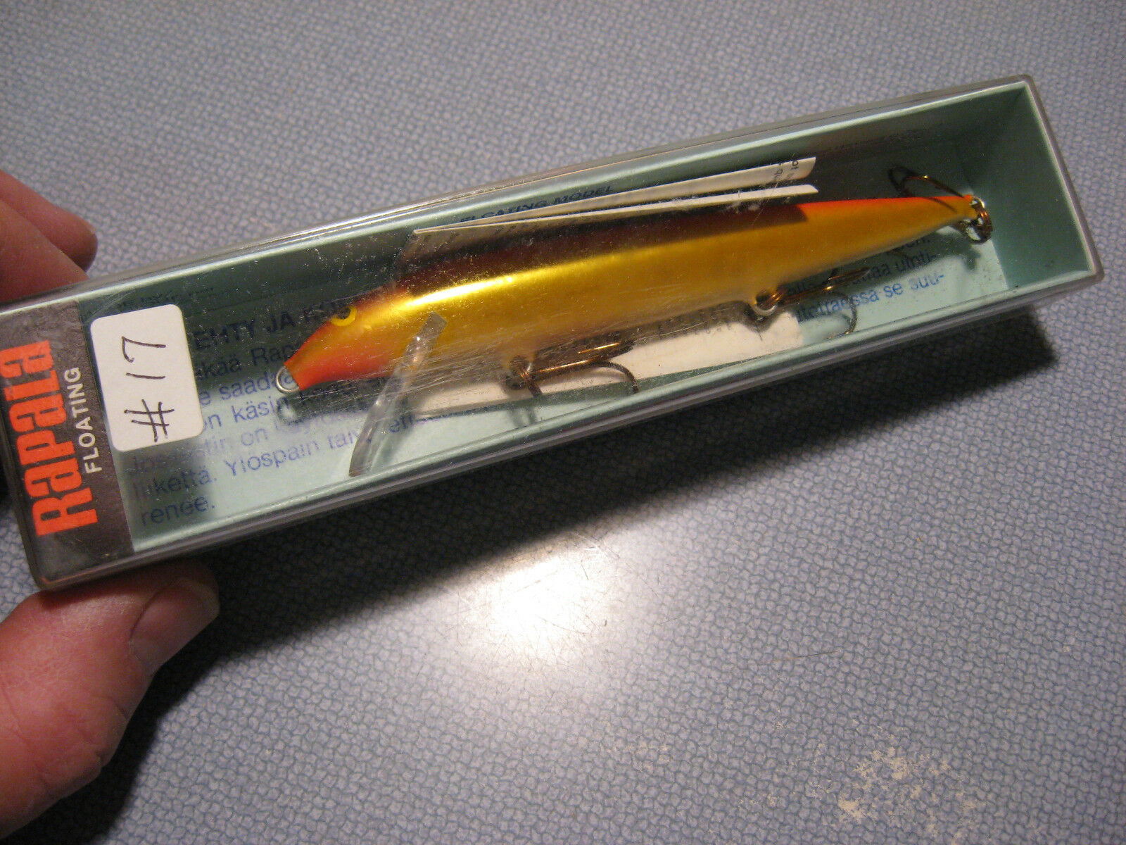Vintage 1978 Fineland Rapala Fishing Lure Floating Husky H  13 GFR  in stock