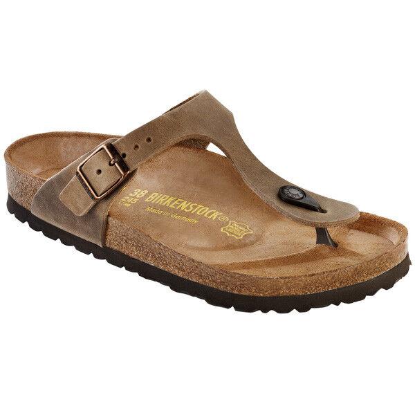 Birkenstock Gizeh nubukleder zapatos tira dedo sandalia ancho 943811 normal