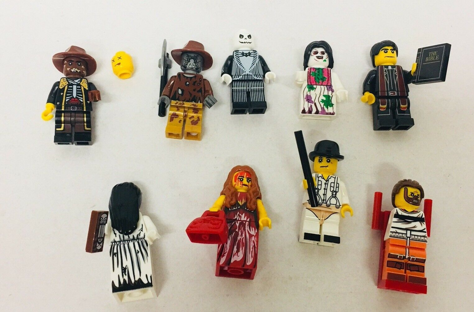 9x LEGO Custom Miniature Lot - Halloween Horror Movie  exorcist carrie candyman
