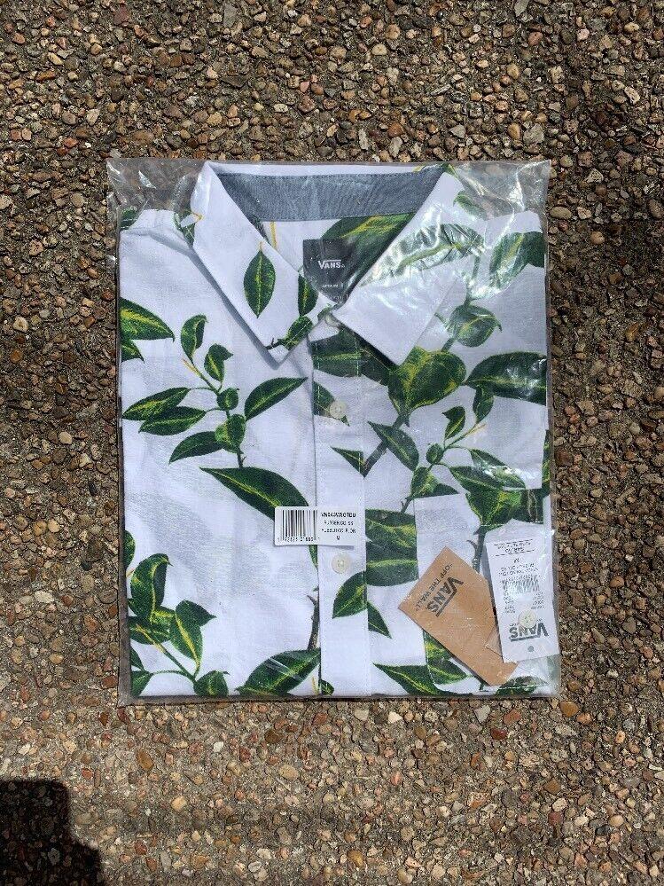 Vans Button Up Hawaiian Shirt - Short Sleeve T-Shirt - VN0A3W3GTDU  Mens X-Large