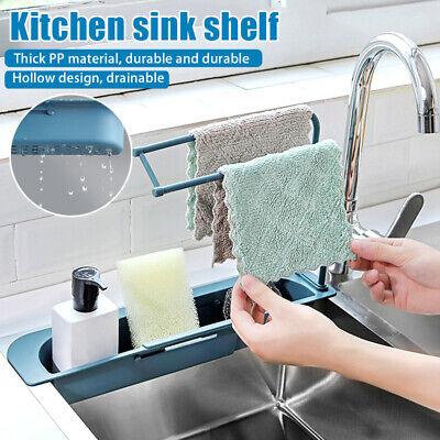 Telescopic Sink Rack Holder Expandable Storage Drain Basket For Home Kitchen Kit Ebay