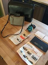 Vintage Polaroid Automatic Land Camera 215 With Flash Leather Strap & Case