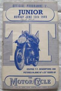 ISLE OF MAN TT 13 Jun 1949 Junior Race Official Programme