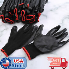 Us 24pcs12 Pairs Nylon Pu Coated Safety Work Gloves Safety Garden Grip Builders