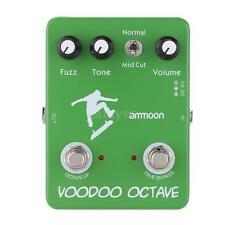 ammoon AP-12 Voodoo Octave Fuzz Effect Guitar Effect Pedal True Bypass J4X9