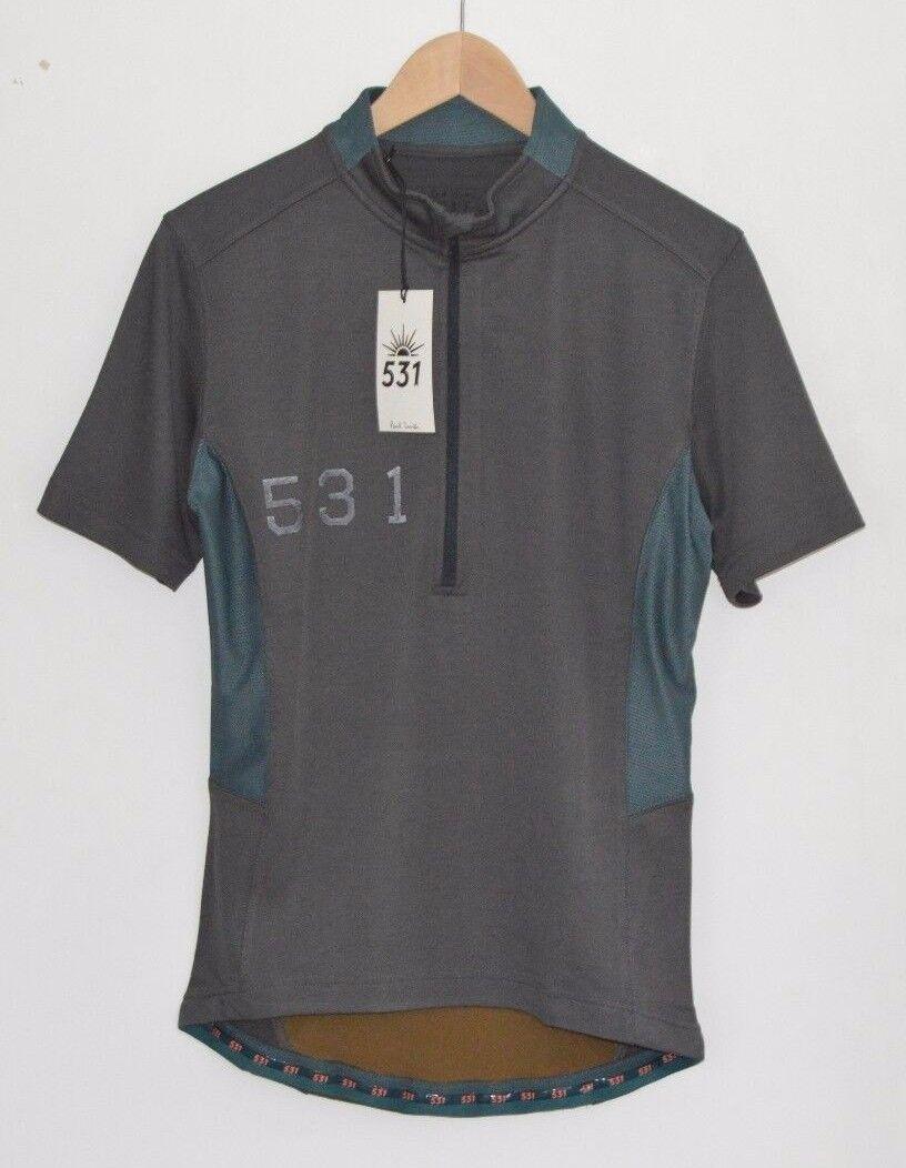 PAUL SMITH 531 grau Radfahren temperature control jersey t-shirt tshirt top MEDIUM