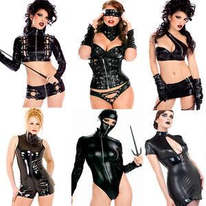Sexy-PVC-Dress-Catsuit-Bondage-Lingerie-Spandex-Bodysuit-Clubwear-50-Shade-Wear