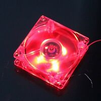 80mm LED Case Fan 12V 4Pin 80x25mm For Computer PC Host CPU Cooling Cooler Red