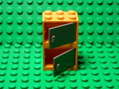 LEGO 2 New  Orange Container Cupboard Dark Bluish Gray Door 2x3x2 Harry Potter