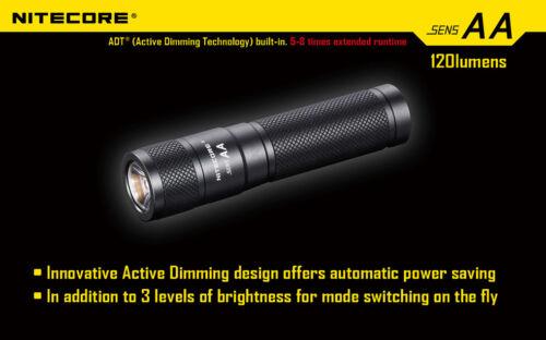 Nitecore Sens AA Active Dimming Technology
