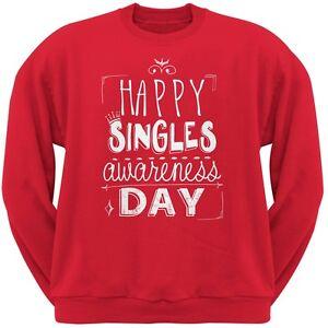 de redondo Day camiseta con Adult Singles redondo Awareness Happy cuello cuello Red p6wYx7q