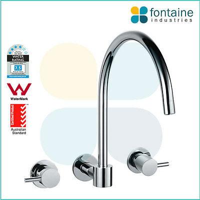 Swivel Wall Spout Bathroom Shower Bath Basin WELS AU Standard Round Modern
