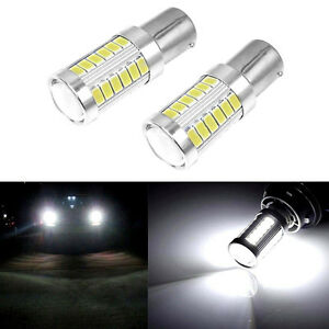 2x-New-White-Bulb-LED-Car-BA15S-P21W-1156-Backup-Reverse-Light-33-SMD-5630-12V