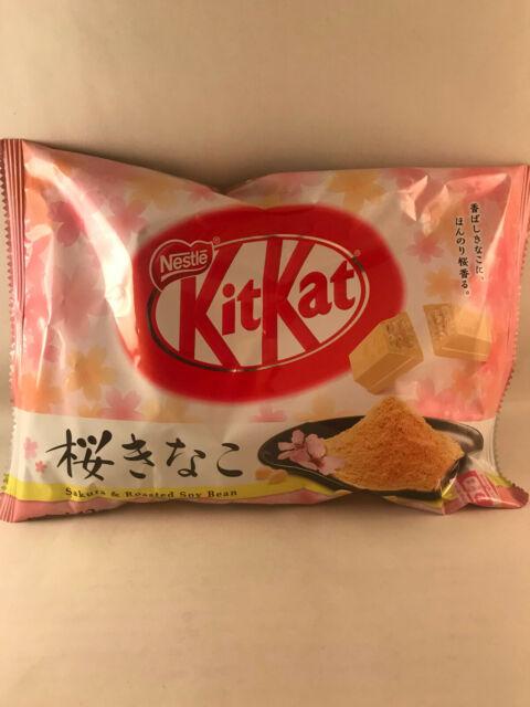 1 bag SAKURA & ROASTED SOY BEAN KitKat - Japanese Kit kats Cherry Blossom