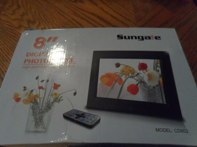 Sungale Cd802 Digital Photo Frame Ebay
