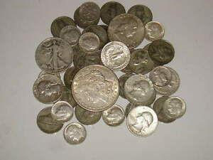 8oz Old Silver Coins Pre-1964 w//1 MORGAN DOLLAR HALFS QUARTERS DIMES /&MORE READ