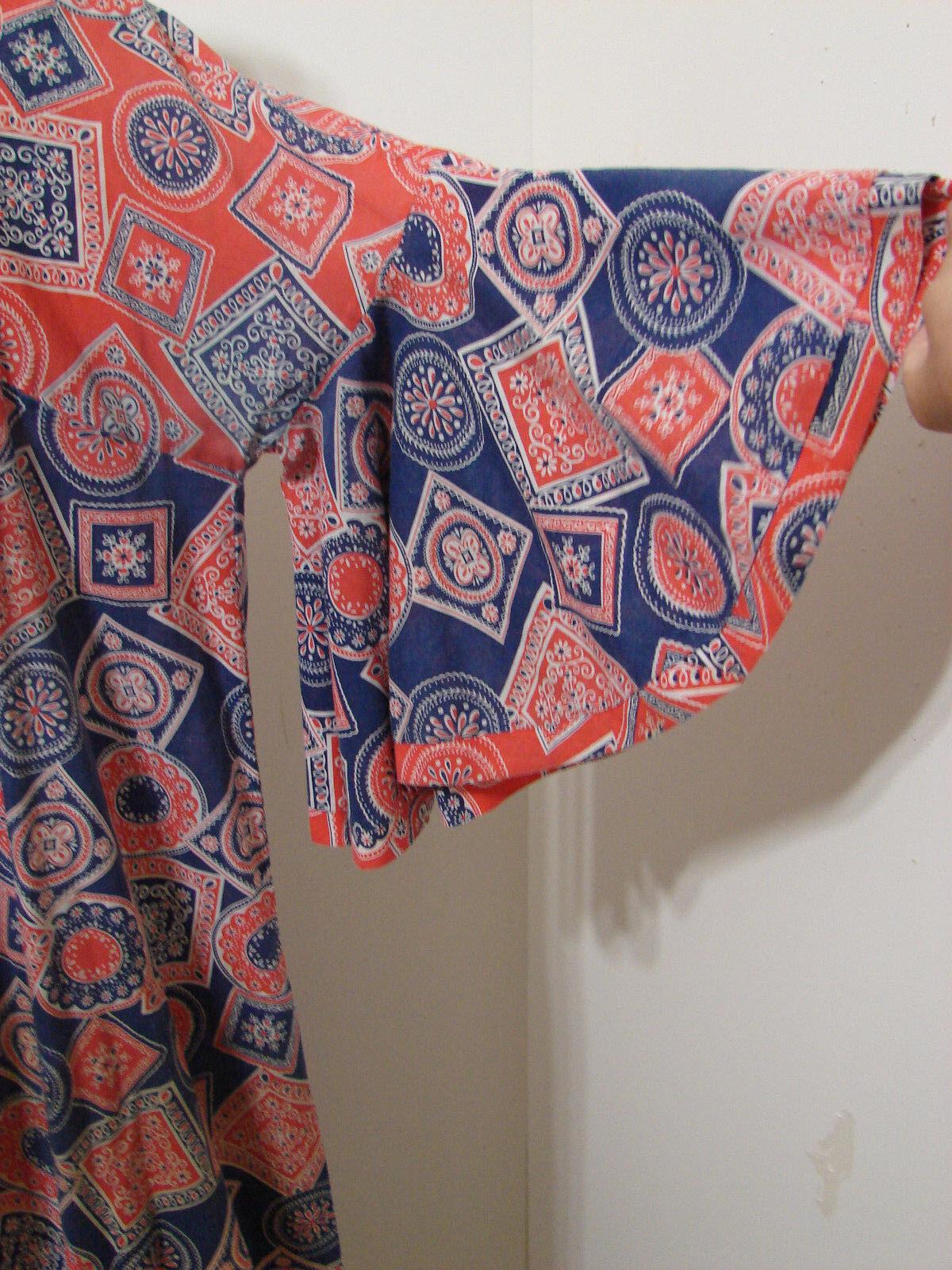 PEGGY LOU Caftan Dress Vintage 1960's Groovy Patc… - image 4