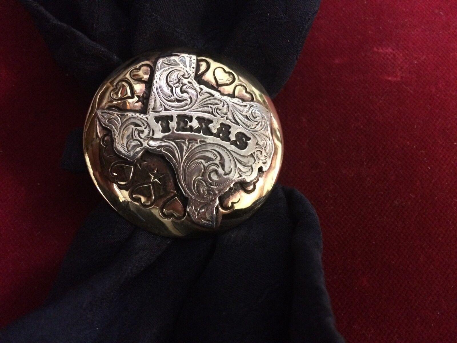 Sautof SlideWild Rag Slide  1 34 Brass w. Sterling Eng. TEXAS State OL, Heart