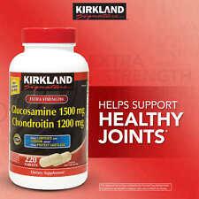 KIRKLAND Signature Extra Strength Glucosamine Chondroitin 220 tablets-Ships Free