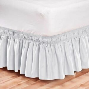 White Dust Ruffle For King Size Bed