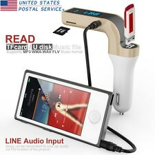 G7 Bluetooth Car Kit Handsfree FM Transmitter Radio MP3 Player USB Charge&AUX US