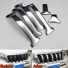 6X ABS Center Middle Grill Grille Mesh Strip Cover Trim For Prado 14-15