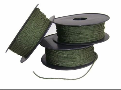 Hoochie Cord 50 mt x 2 mm Roll Army Green Australian Made Military Survival Para