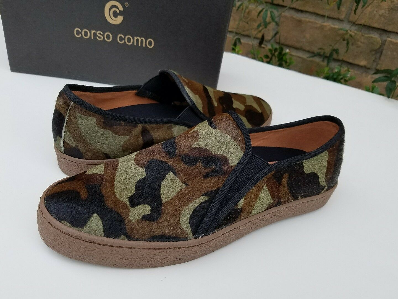 130 Hair Corso Como Grün  Braun Camouflage Calf Hair 130 Slip On lexie Loafers 2faddc
