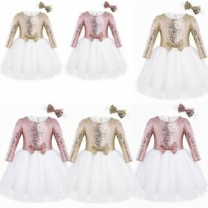 Toddler Baby Girl Flower Dress Lace Tulle Party Bridesmaid Pageant Tutu Sundress