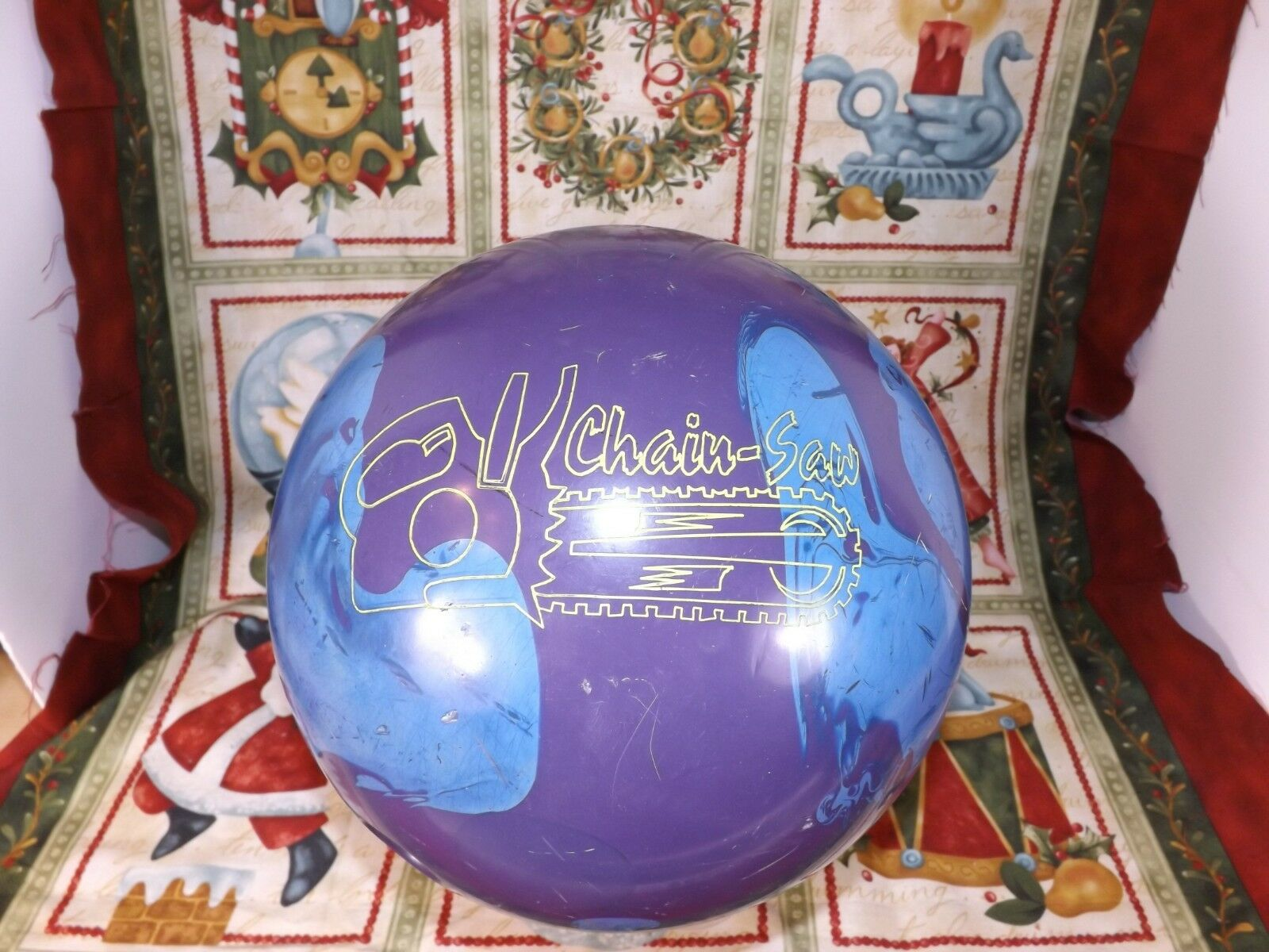 Lane CHAINSAW Reactive Bowling Ball 14.9 lbs RARE