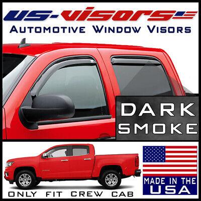 For 2015-2019 Chevy Colorado 4pcs Acrylic Window Sun Rain Visors Guard Crew Cab