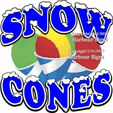 Snow Cones Decal Choose Your Size Food Truck Vinyl Sticker Concession