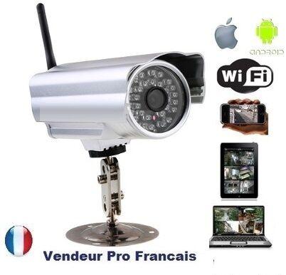 Caméra IP Exterieur Réseau WIFI Compatible IPHONE ANDROID SAMSUNG BOX ADSL